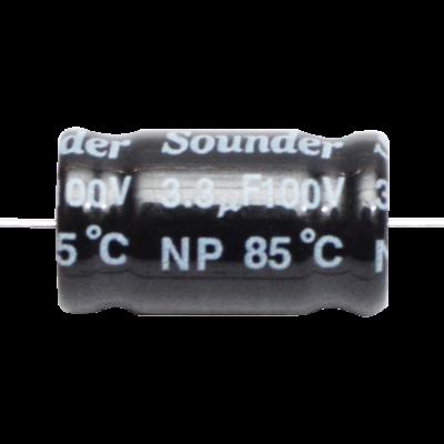 SOUNDER CAPACITOR BIPOLAR 3.3MFD/100V